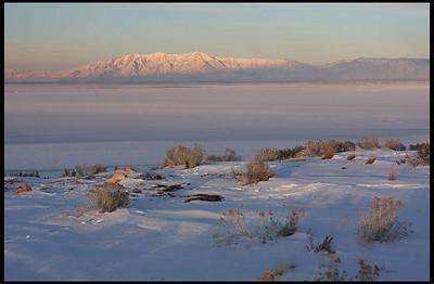 Sunset at Great Salt Lake