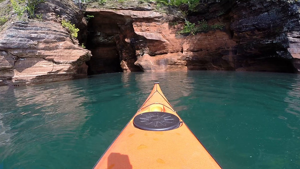 Mainland- Paddling into a Sea Cave/ Tunnel.