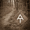 Appalachian Trail Sign and Blaze Marker