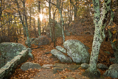 Autumn Sunrise on the Appalachian Trail at Thunder Ridge