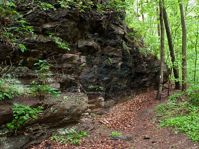 Rock Wall on the Appalachian Trail in the James River Face Wilderness Area