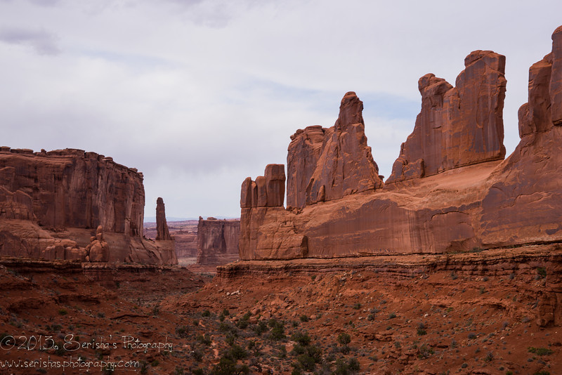Park Avenue in Arches Canyon National Park