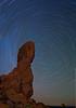 Balanced Rock and star trails