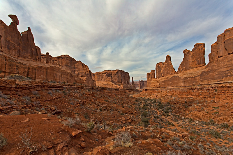 Park Avenue view in the Arches National Park. The next 12 pictures were taken in the Arches also.