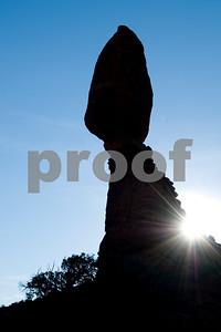 Balancing Rock with Sunstar, Arches National Park, Utah
