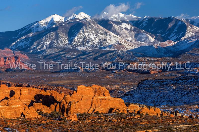 44.  A La Sal Mountains Telephoto Landscape