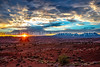 73.  Sunrise At The La Sal Mountain View Area