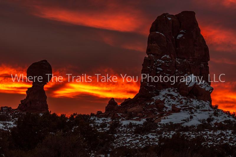 57.   Sunset Over Balanced Rock