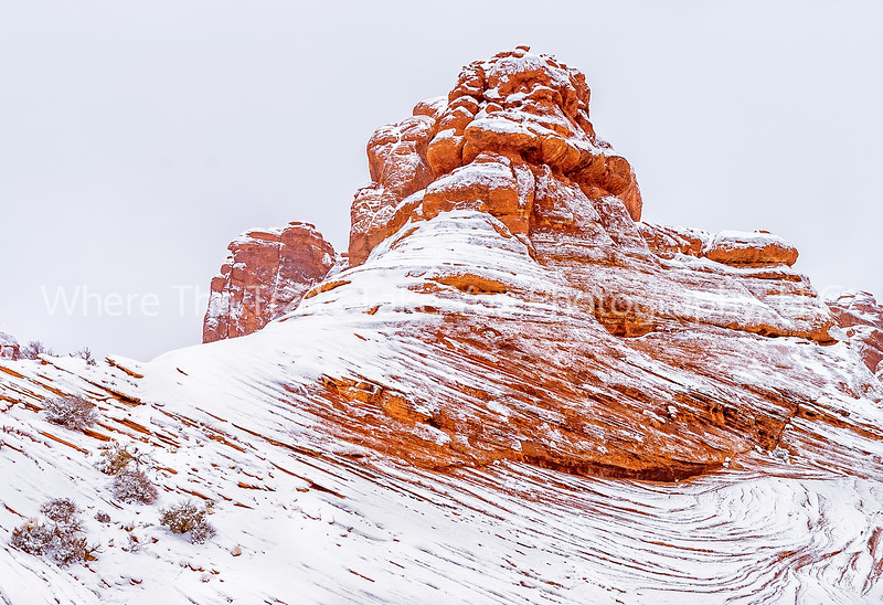 25.  White Snow And Red Rock