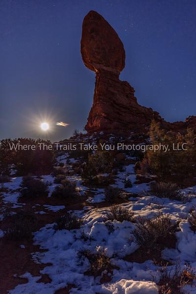 65.  A New Year's Full Moon At Balanced Rock