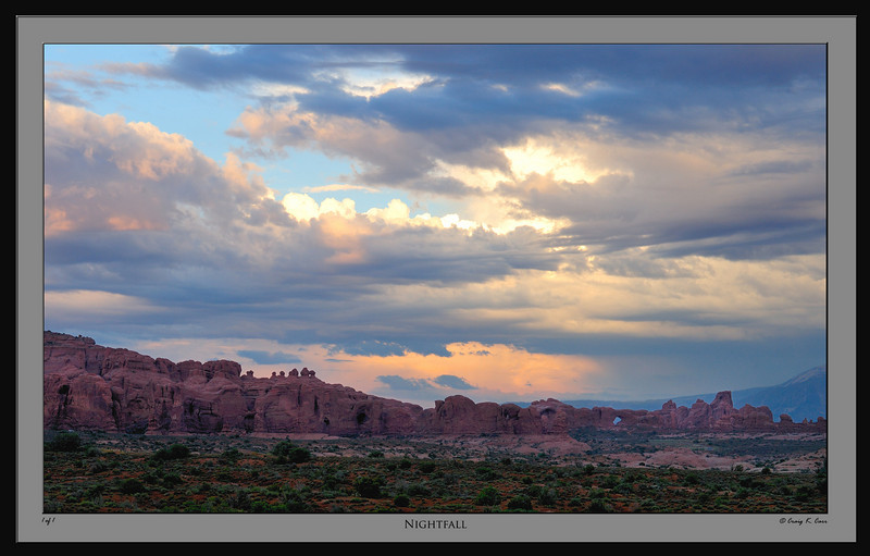 Fantastic turbulent clouds at Arches National Park.