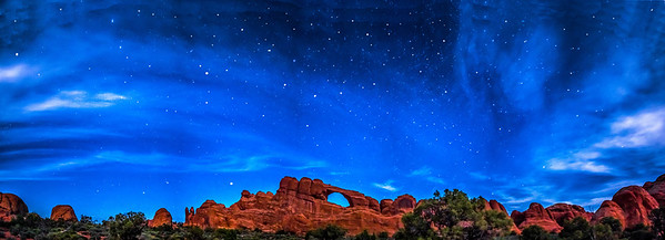 Stars over Skyline Arch