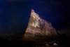 This is a 181 second time exposure at ISO 800, f5.6. The 700 ft. high Tower of Babel was painted with two powerful spotlights during the exposure, one in each hand.