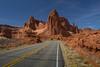 Main road through Arches N.P.