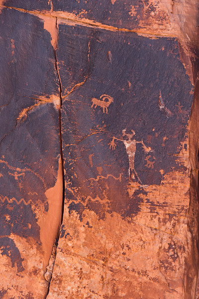 Petroglyphs - Archaic Period (6000-1000 BC) and Fremont Period (450-1300 AD) - Moab, Grand Co., UT