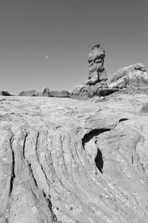One of the many hoodoo rocks in Arches National Park