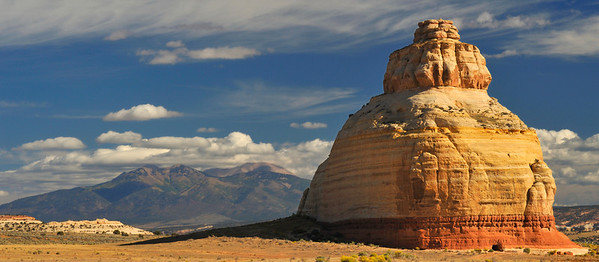 "Utah ""Beehive"" with the La Sal Mountains in the background."
