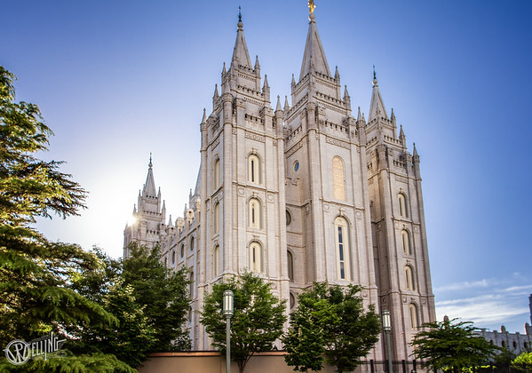 Salt Lake LDS Temple an hour before sunset, Salt Lake City, UT