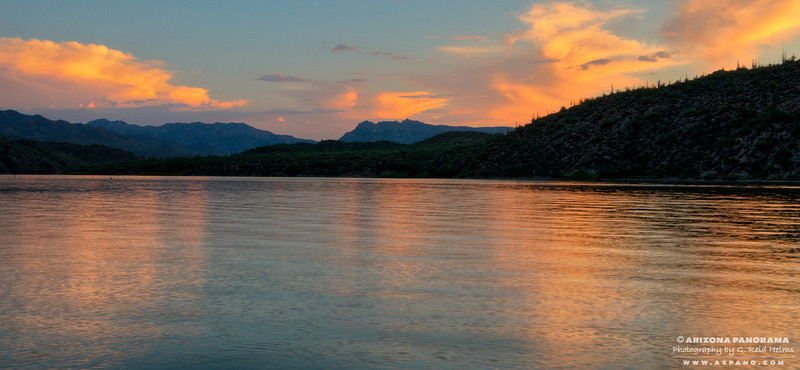 Sunset at Apache Lake