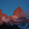 Monte Fitz Roy with Satellites at sunrise