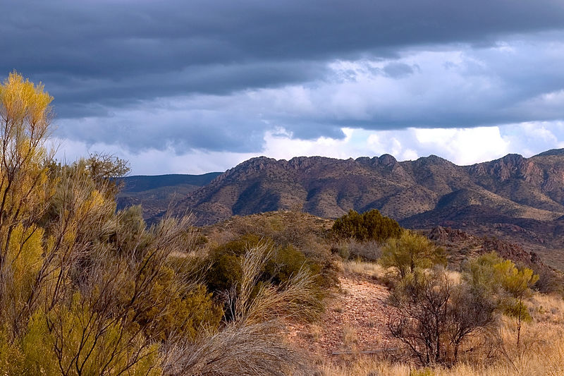 Mountains in the distance in Arizona