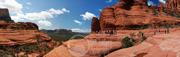Composite panorama of Chicken Point on the Broken Arrow trail near Sedona.