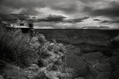 Overlook Studio at Grand Canyon  Infrared shot.