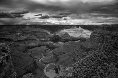 Staring down Plateau Point and up Bright Angel Canyon  Infrared