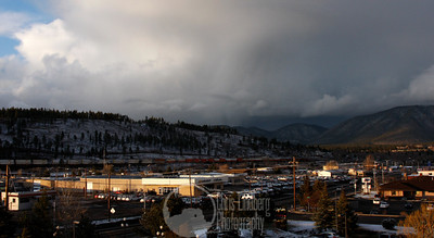 Sunset over Flagstaff. The storm front moving away was quickly followed by a second...