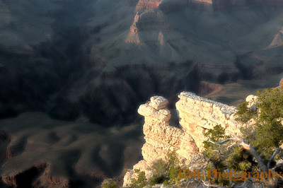 Dreams of the South Rim.  This was an alternative way to process the HDR composite before this one.  I rather liked the dreamlike look of it.