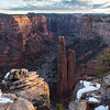 Spider Rock Snowy Portrait