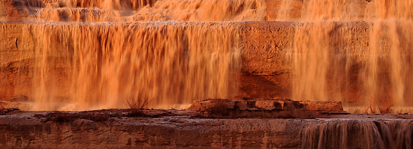 Grand Gold. Grand Falls on the Little Colorado River.