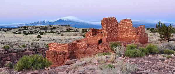 Dawn at Lomaki Ruin at Wupatki National Monument