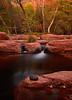Black Water Pool.<br /> <br /> Fall colors come to a sandstone creek near Sedona Arizona