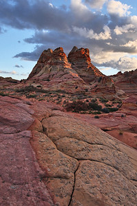 Twin Peaks Sunset South Coyote Buttes, Arizona