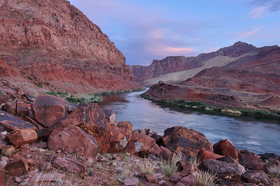 Lees Ferry. The Colorado River at Lees Ferry above Marble Canyon