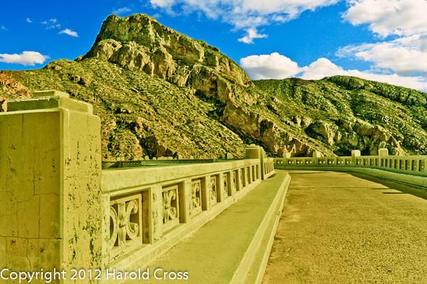 A landscape taken Feb. 19, 2012 at Coolidge Dam near San Carlos, AZ.