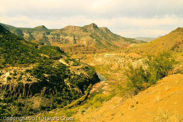 A landscape taken Nov. 4, 2011 near Salt River, AZ.