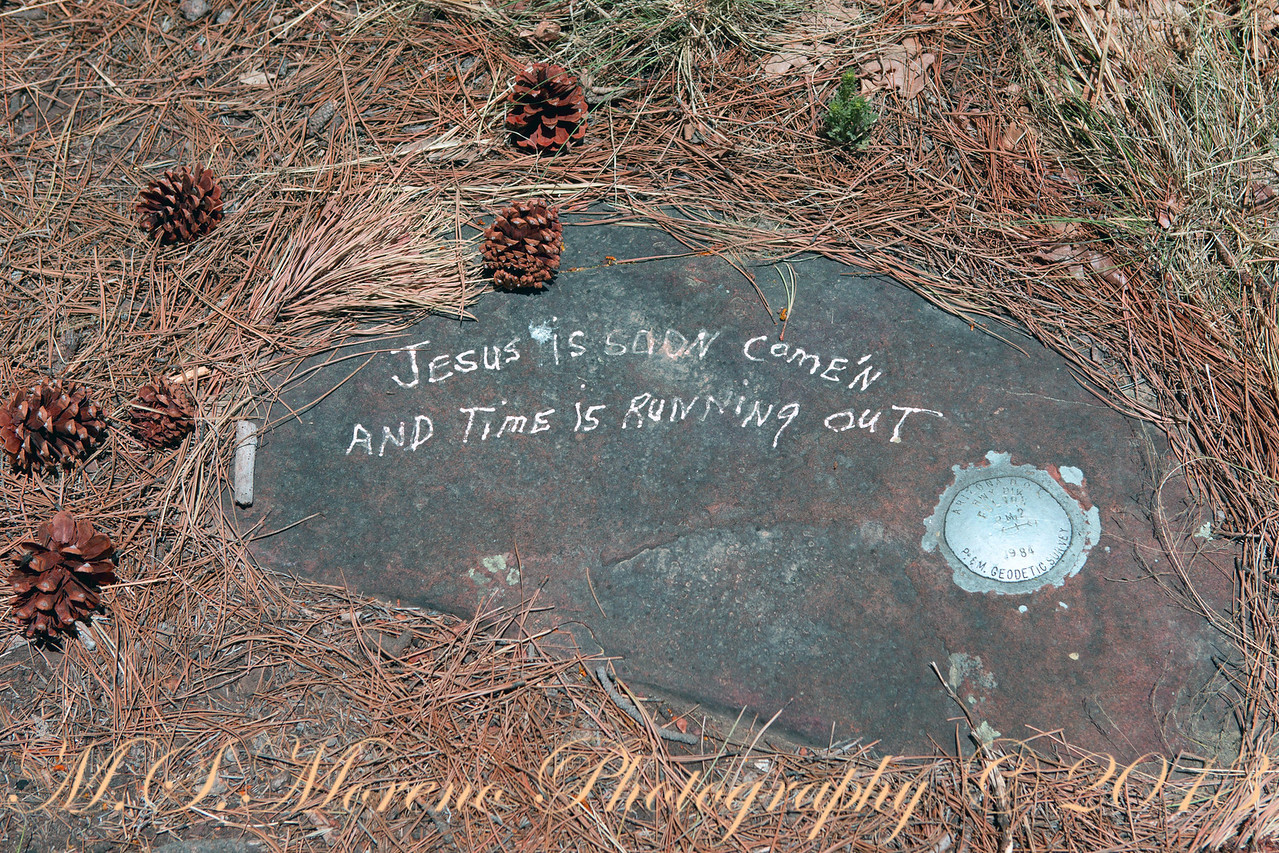 Grafiti on a Geodetic Survey Monument - Canyon Point Campground Arizona