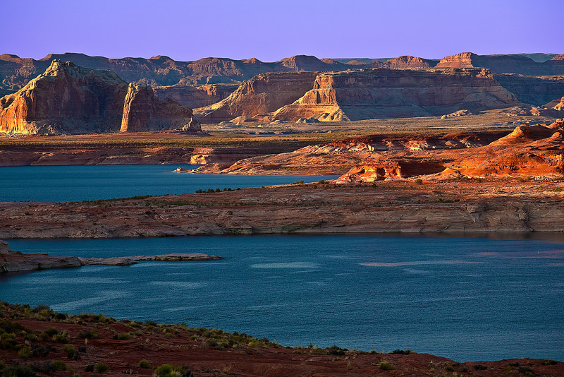 Arizona, Lake Powell, Glen Canyon, Sunset Landscape 亚利桑那 沙漠 风景