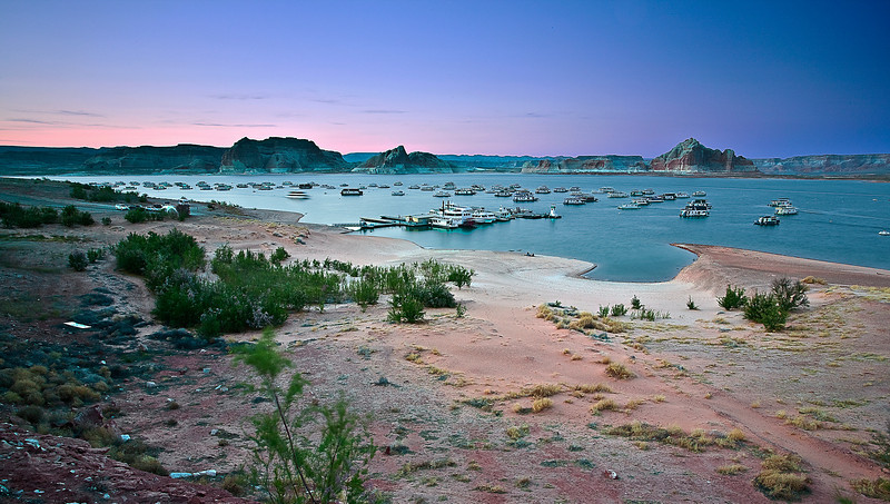 Arizona, Lake Powell, Glen Canyon, Sunset Landscape 亚利桑那 沙漠 风景