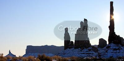 Sunburst, Totem Pole, Monument Valley