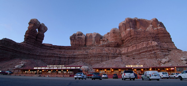 Twin Rocks Trading Post and Cafe in Bluff, Utah