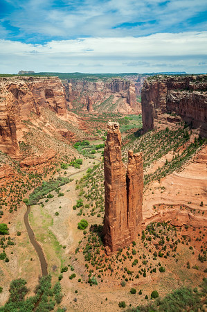 Spider Rock at Canyon de Chelly National Monument in Daylight
