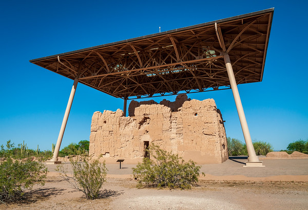 Ruins with Roof at Casa Grande Ruins National Monument