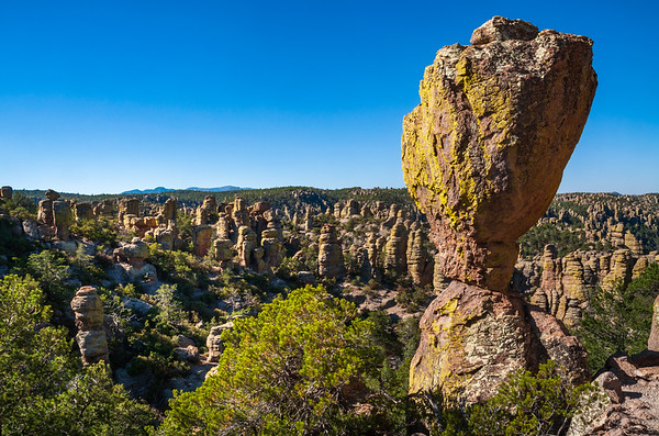 Tall Pillar and Background Hoodoos at Chiricahua National Monument