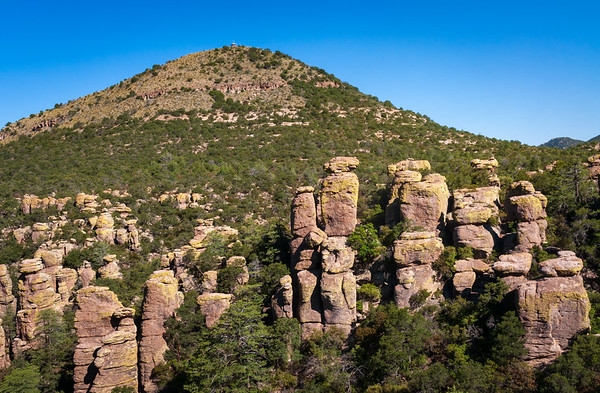 Hoodoos and a Hill at Chiricahua National Monument