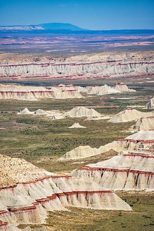 Crimson Painted Landscape of Coal Mine Canyon
