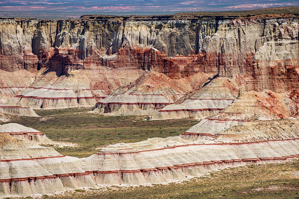 Jaged Painted Cliffs at Coal Mine Canyon