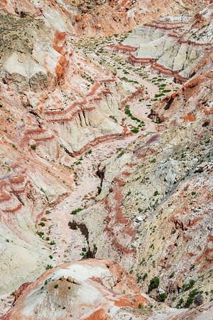 Beautiful Painted Landscape of Coal Mine Canyon
